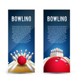 bowling realistic theme eps 10 broshure vector image vector image
