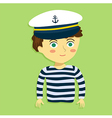 Boy with Captain Hat and Costume vector image vector image