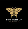 butterfly gold logo icon vector image