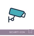 camera cctv icon video monitoring sign vector image