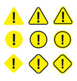 caution icon set vector image vector image