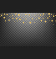 christmas stars shiny gold glowing stars vector image vector image