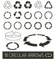 circular arrows collection vector image vector image