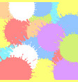 colored ink blots colorful vector image vector image