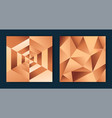 copper bronze luxury 3d geometric background set vector image