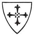 cross of four ermine spots with a charge of a vector image vector image