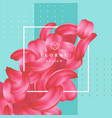 detailed tender petals of roses or sakura with a vector image vector image