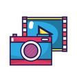 digital camera technology with play video vector image
