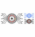 digital casino roulette composition icon of vector image vector image