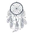 drawing dreamcatcher vector image