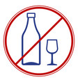 drinks ban symbol vector image