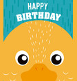 duck happy birthday card vector image