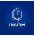 Education logo with book vector image vector image
