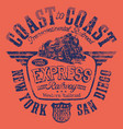 express american railway western railroad vector image