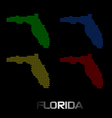 Florida dotted maps vector image