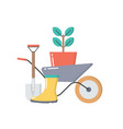 gardening concept icon isolated on white vector image vector image