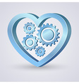 Gear Heart vector image vector image