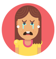 Girl with an ugly smile vector image vector image