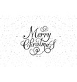Hand sketched Merry Christmas logotype badge and vector image vector image