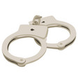 handcuff flat style front vector image vector image