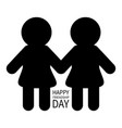 happy friendship day two black woman female vector image