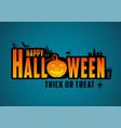 happy halloween typography vector image