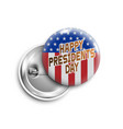 happy presidents day buttonbadgebanner isolated vector image vector image