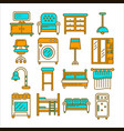 home and room furniture interior accessories or vector image vector image