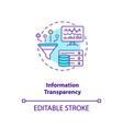 information transparency concept icon vector image vector image