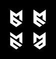 initial letter mb bm me em mc cm ma md logo vector image vector image