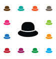 isolated cap icon trilby element can be vector image vector image