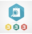 Isolated shopping bag icon with a magnifier vector image vector image