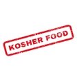 Kosher Food Text Rubber Stamp vector image vector image