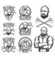 lumberjack emblems vector image
