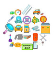 mending icons set cartoon style vector image