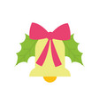 merry christmas celebration bell with ribbon vector image vector image