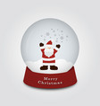 merry christmas snow globe with santa claus and vector image vector image