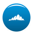 mountain landscape icon blue vector image vector image