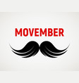 movember mustache icon vector image