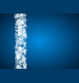new year snowflakes on blue background vector image vector image