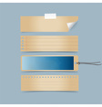 Old blank Tags Ready for your design vector image