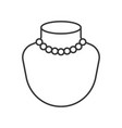 pearl or beads necklace outline icon vector image