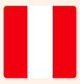 peru square flag button social media vector image vector image