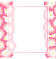 pink morning glory flower banner card border vector image vector image