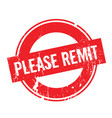 please remit rubber stamp vector image vector image