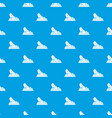 princess shoes pattern seamless blue vector image
