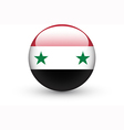 Round icon with national flag of Syria vector image