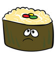 sad sushi or color vector image vector image