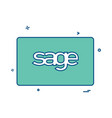 sage card design vector image