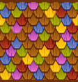 seamless pattern colorful geometric tiled roofs vector image vector image